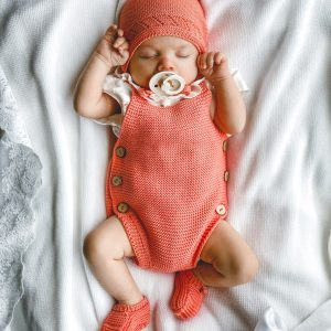 Knitted Coral Romper