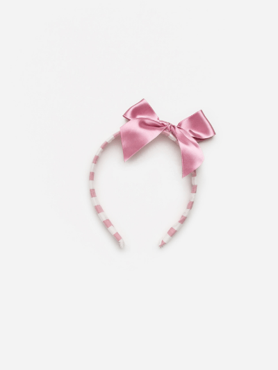 Dusky Pink Candy Stripe Headband