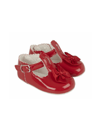 Red Scallop Bow Pre Walkers