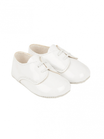 White Lace Up Pre Walkers