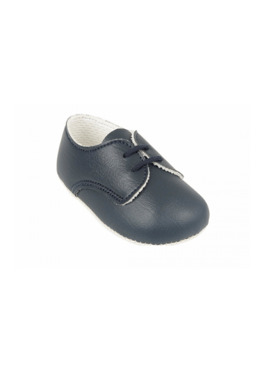 Navy Lace Up Pre Walkers