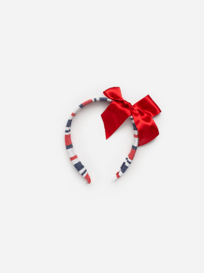 Nautical Stripe Bow Headband