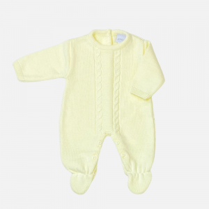 Lemon Cable Knit Onesie