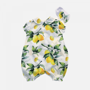 Lemon Detail Romper Set