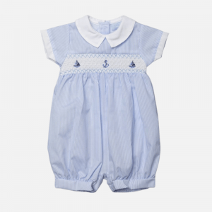 Striped Nautical Smock Romper