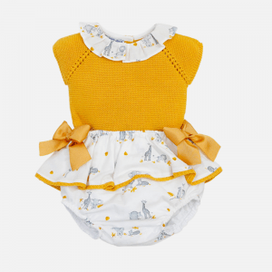 Mustard Knit Top & Safari Bloomers