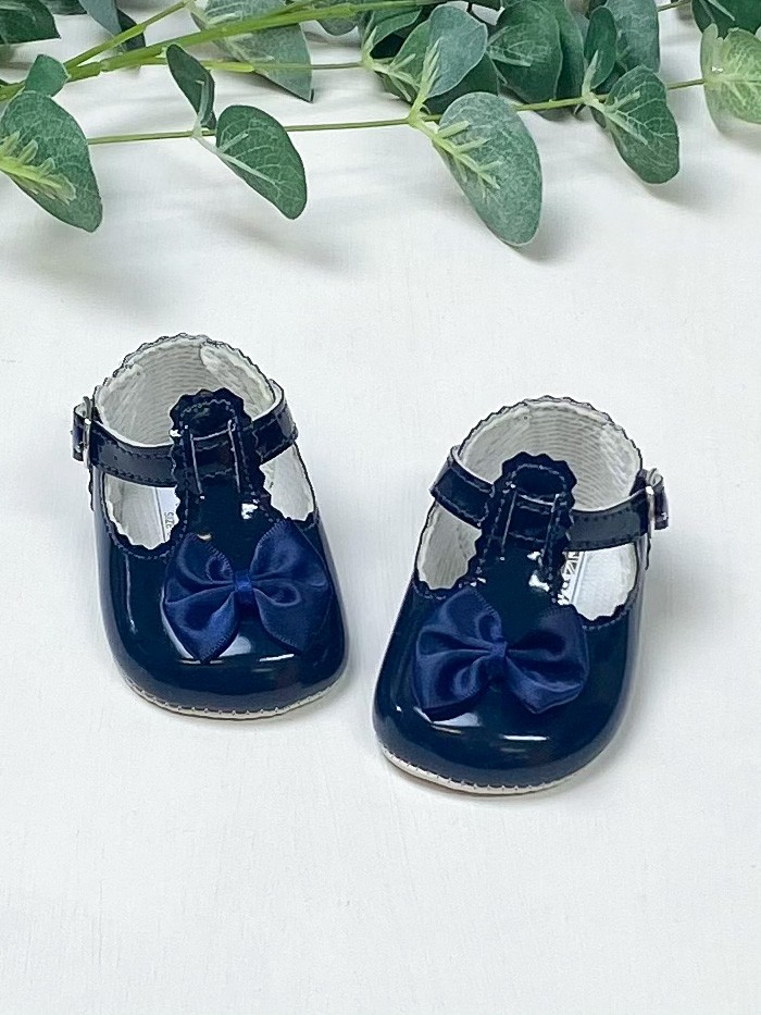Navy Scallop Bow Pre Walkers