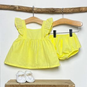 Yellow Blouse & Knickers Set