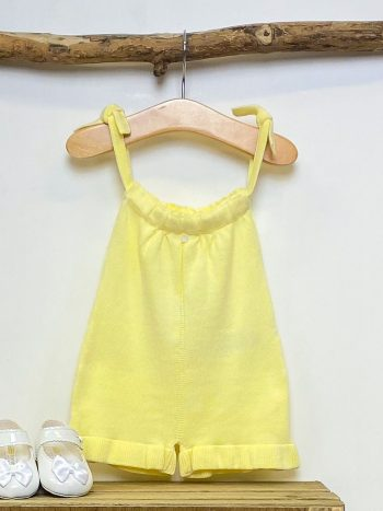 Lemon Frilled Knitted Playsuit 2