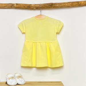 Yellow Knitted A-Line Dress