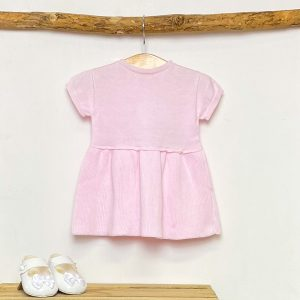 Pink Knitted A-Line Dress
