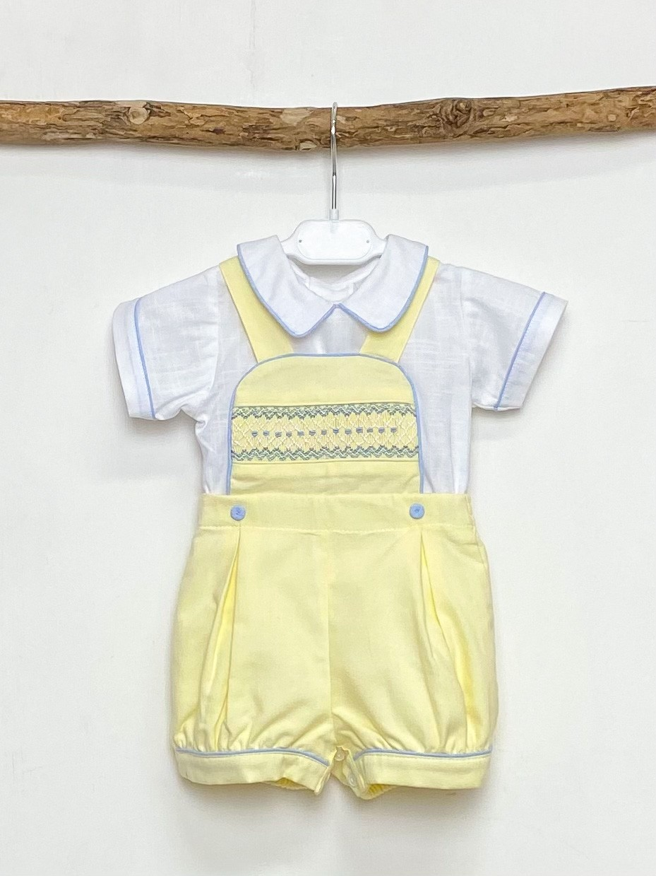 Shirt & Classic Yellow Dungaree