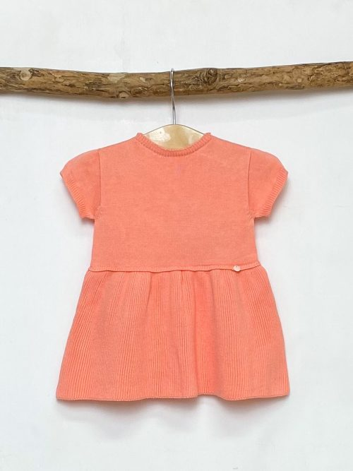 Coral Knitted A-Line Dress