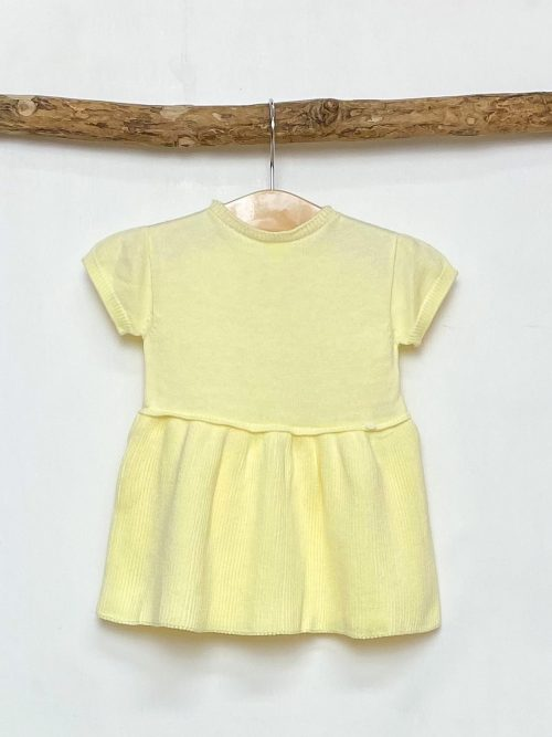 Lemon Knitted A-Line Dress