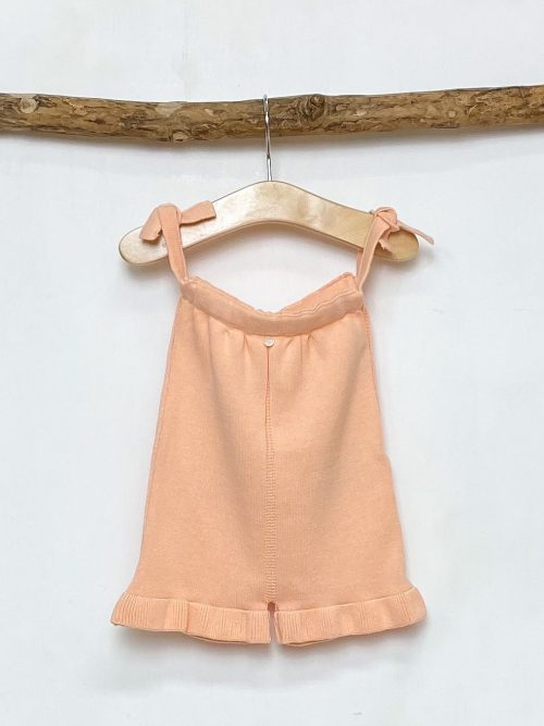 Peach Frilled Knitted Playsuit