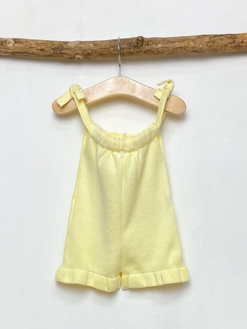 Lemon Frilled Knitted Playsuit
