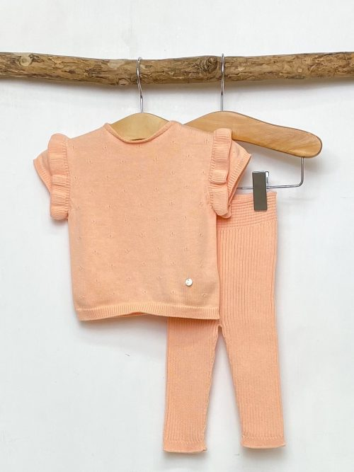 Peach Knitted Top & Leggings