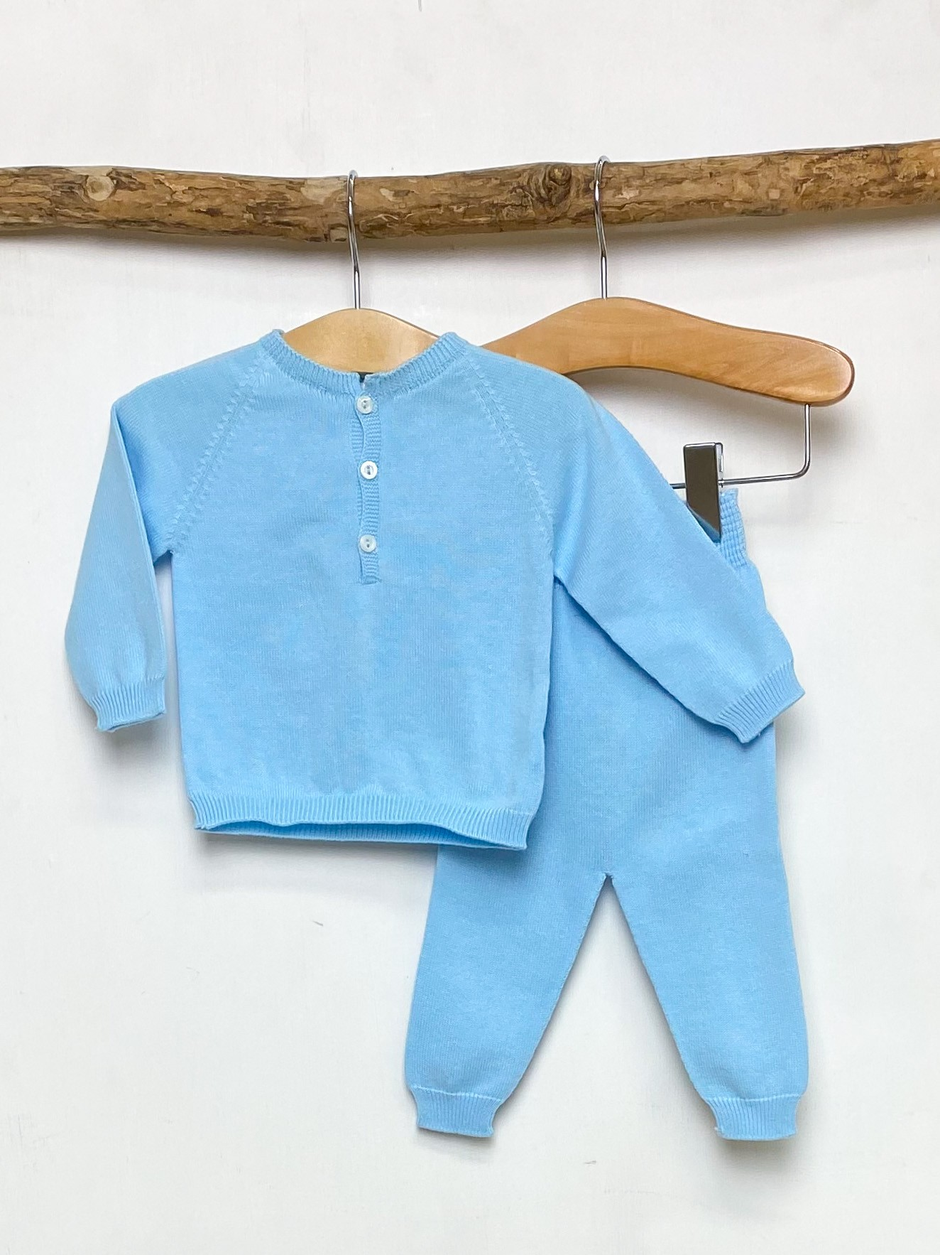 Blue Knitted Lounge Set