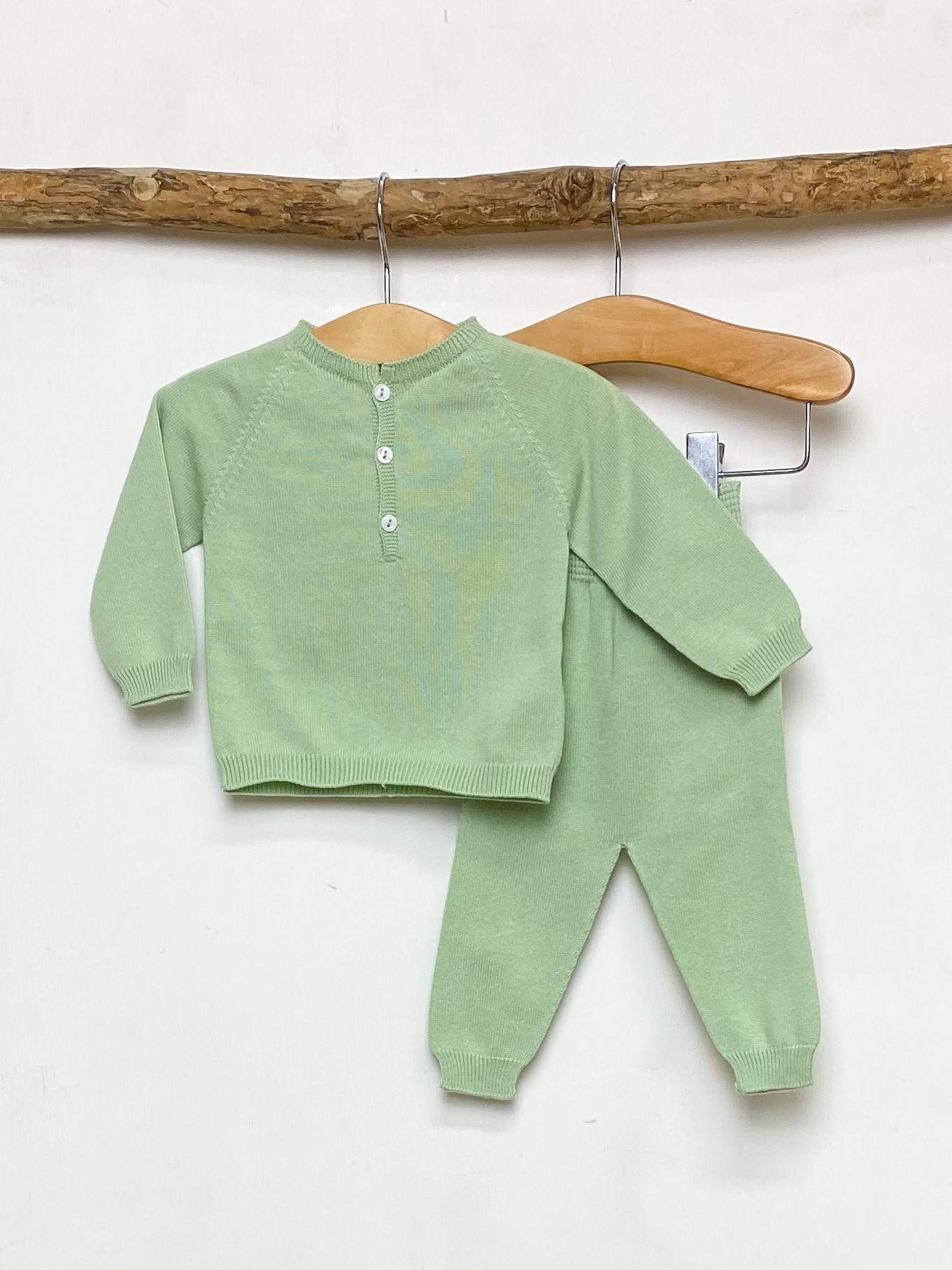 Green Knitted Lounge Set