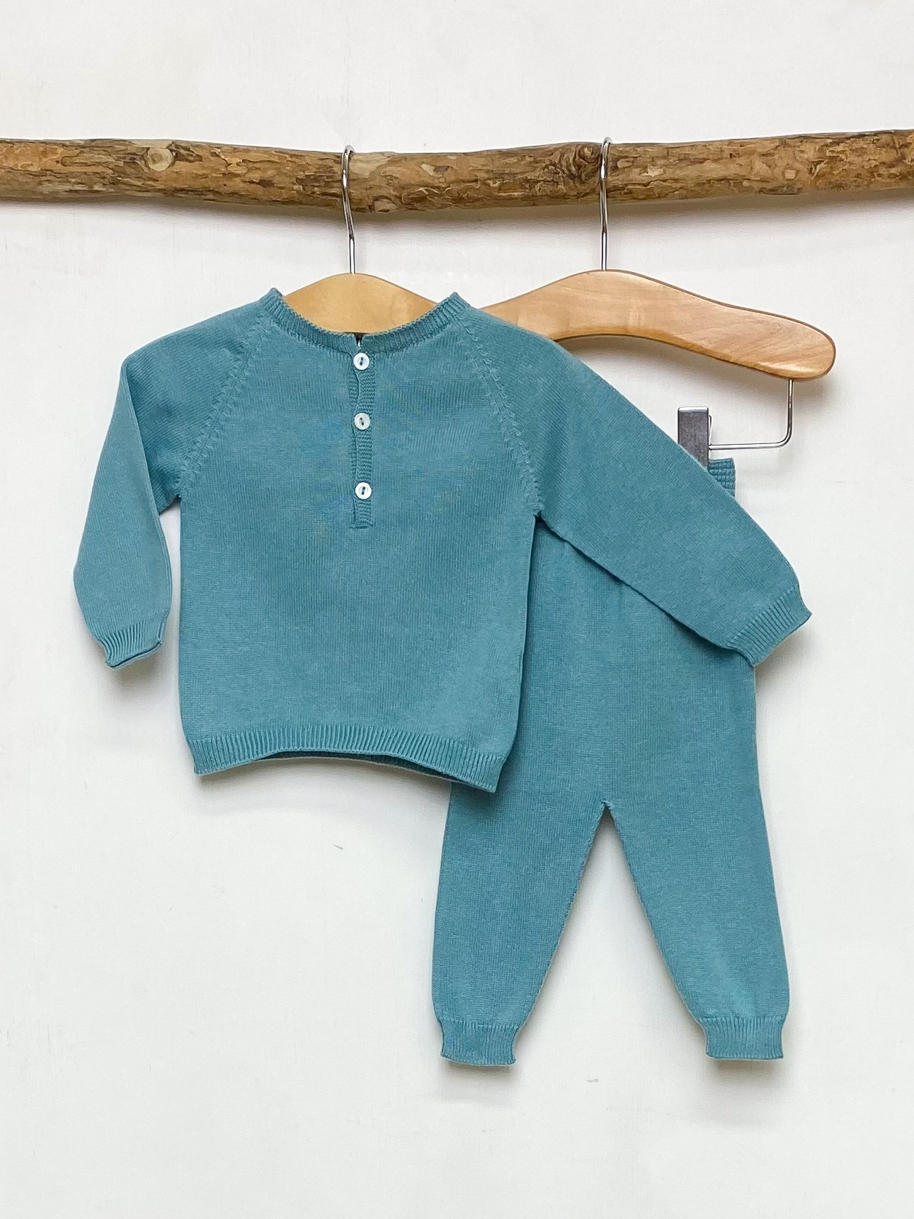 Teal Knitted Lounge Set