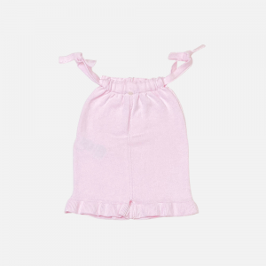 Pink Frilled Knitted Playsuit