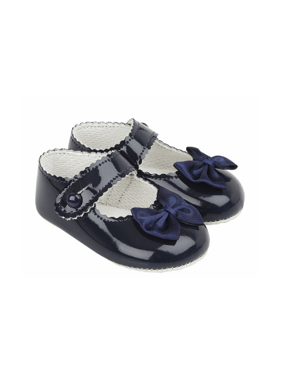 Navy Bow Pre Walkers