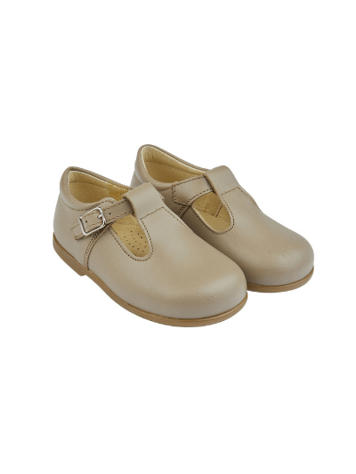 Taupe Alex Leather Shoes