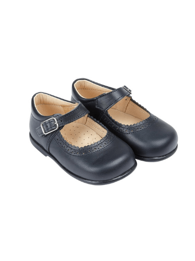 Navy Alice Leather Shoes