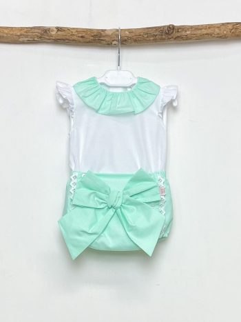 Blouse & Mint Bow Bloomers