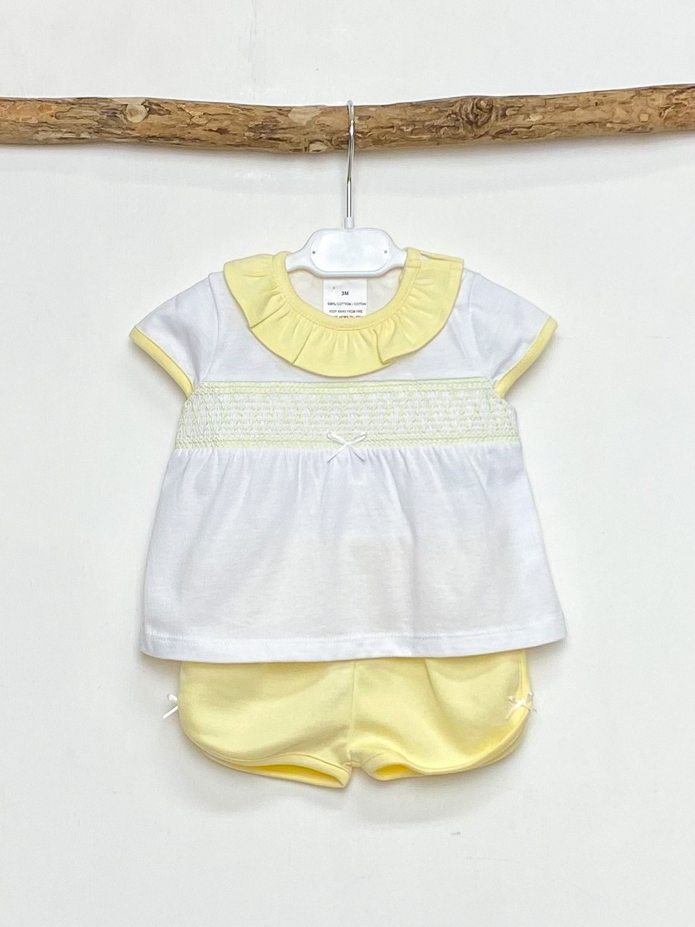 Lemon Smocked Tee & Shorts
