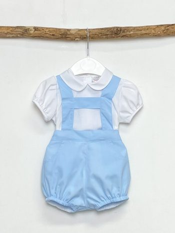 Shirt & Blue H-Bar Dungaree
