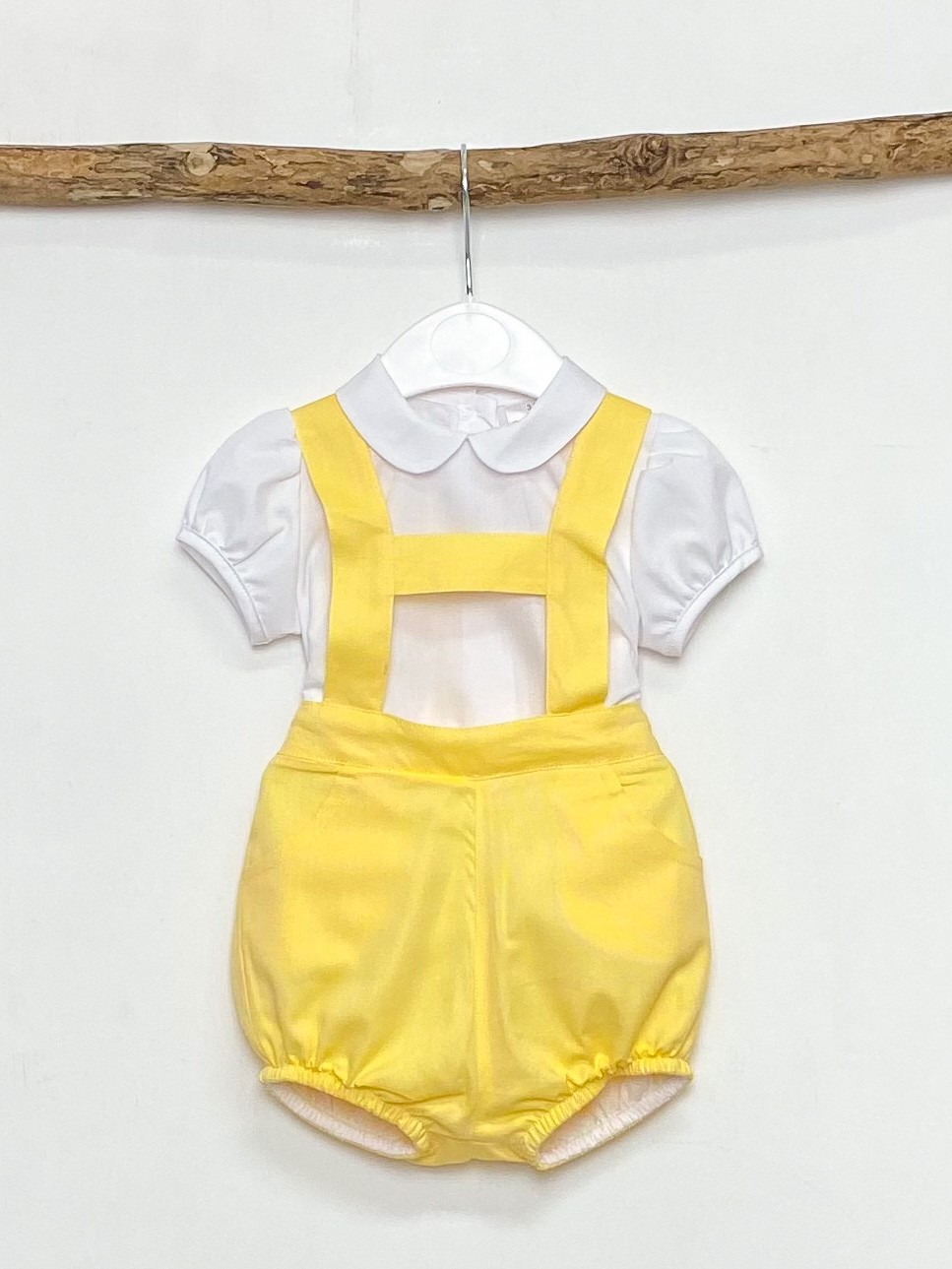 Shirt & Yellow H-Bar Dungaree