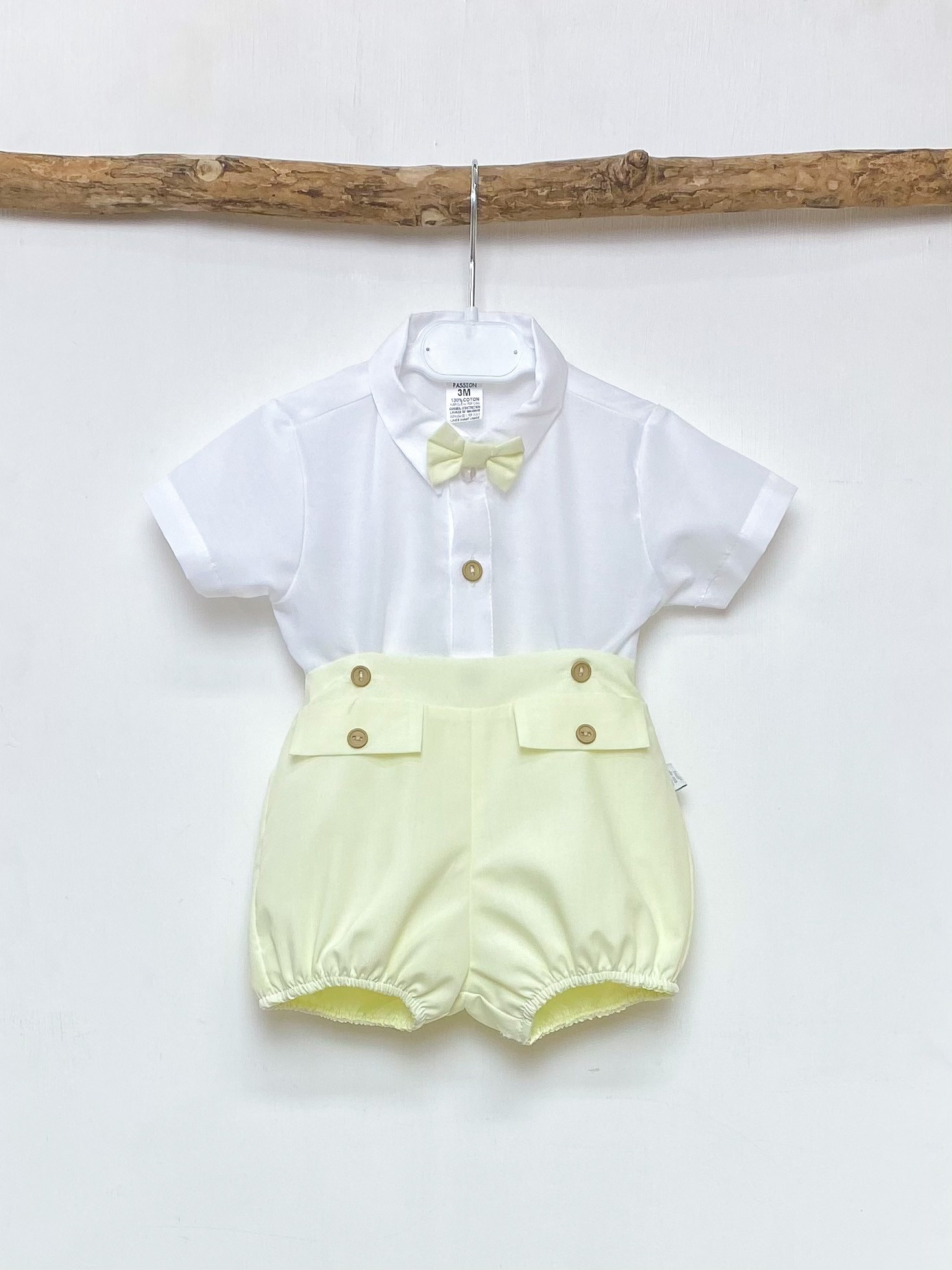 Bow Tie Shirt & Lemon Shorts