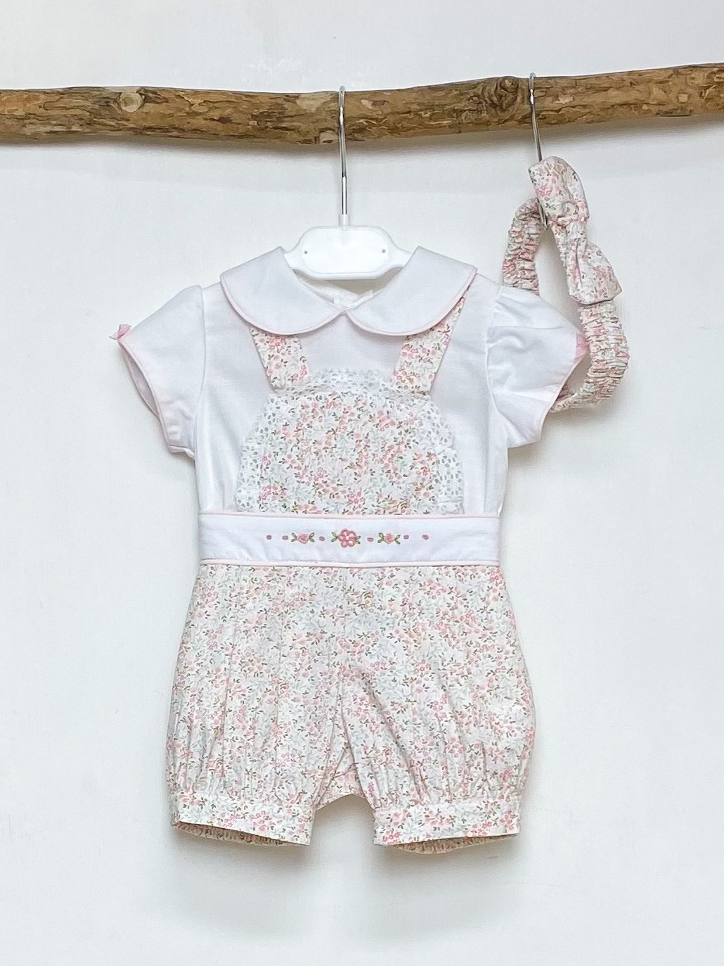 Blouse & Ditsy Floral Dungaree