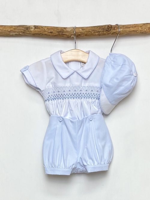 Blue Smocked Shirt & Shorts