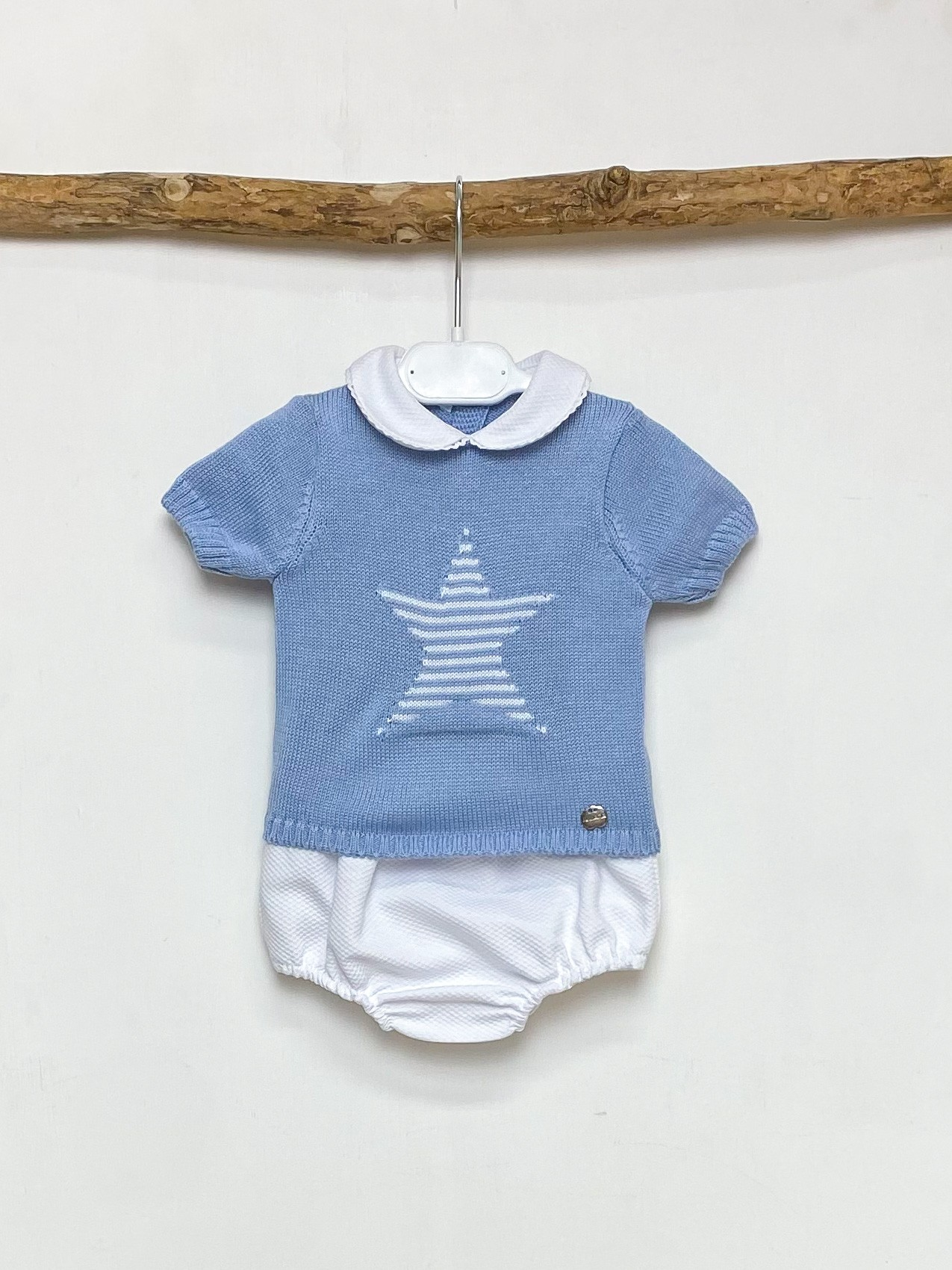 Soft Blue Star Tee & Jam Pants