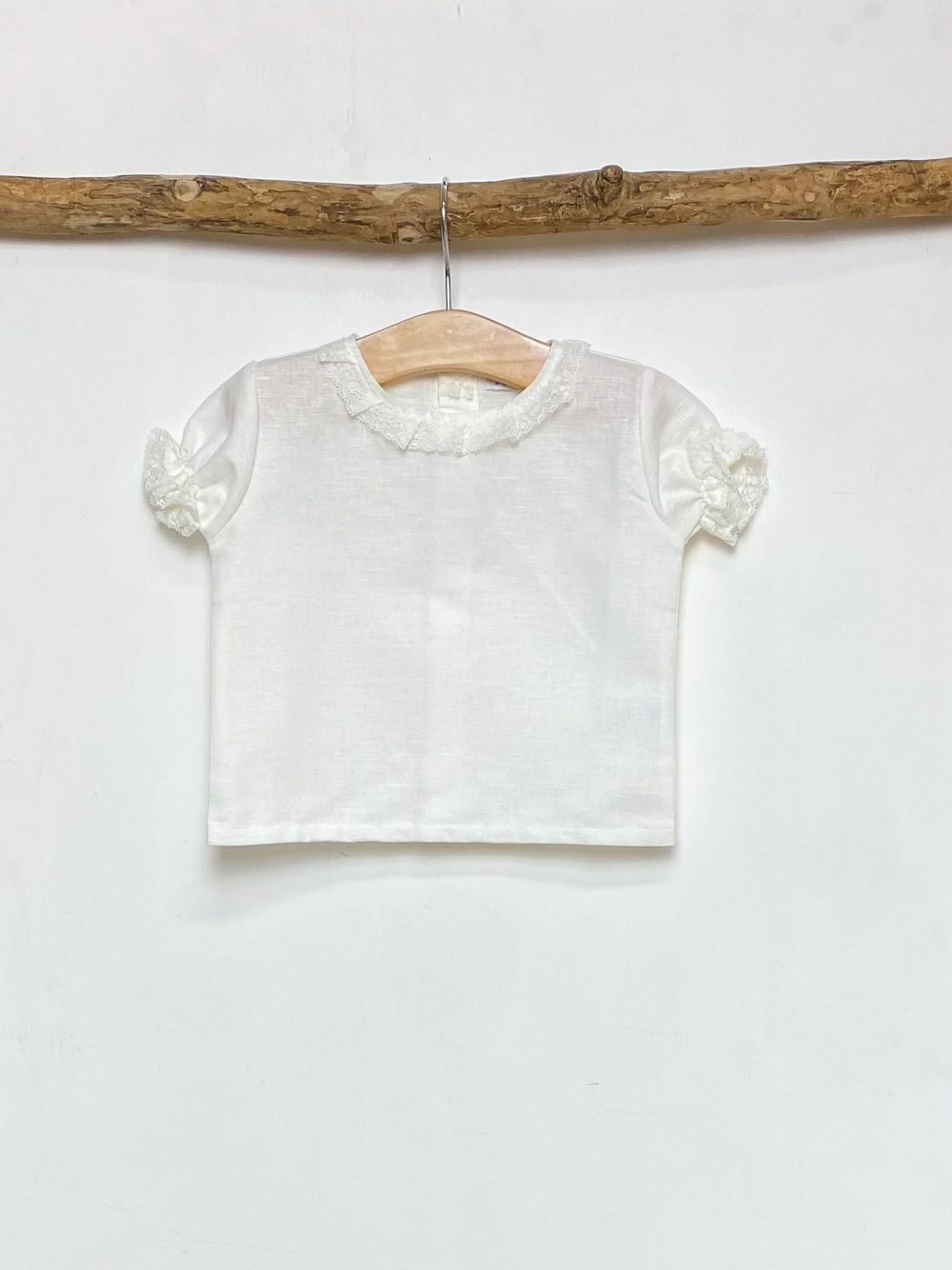 Ivory Lace Detail Blouse