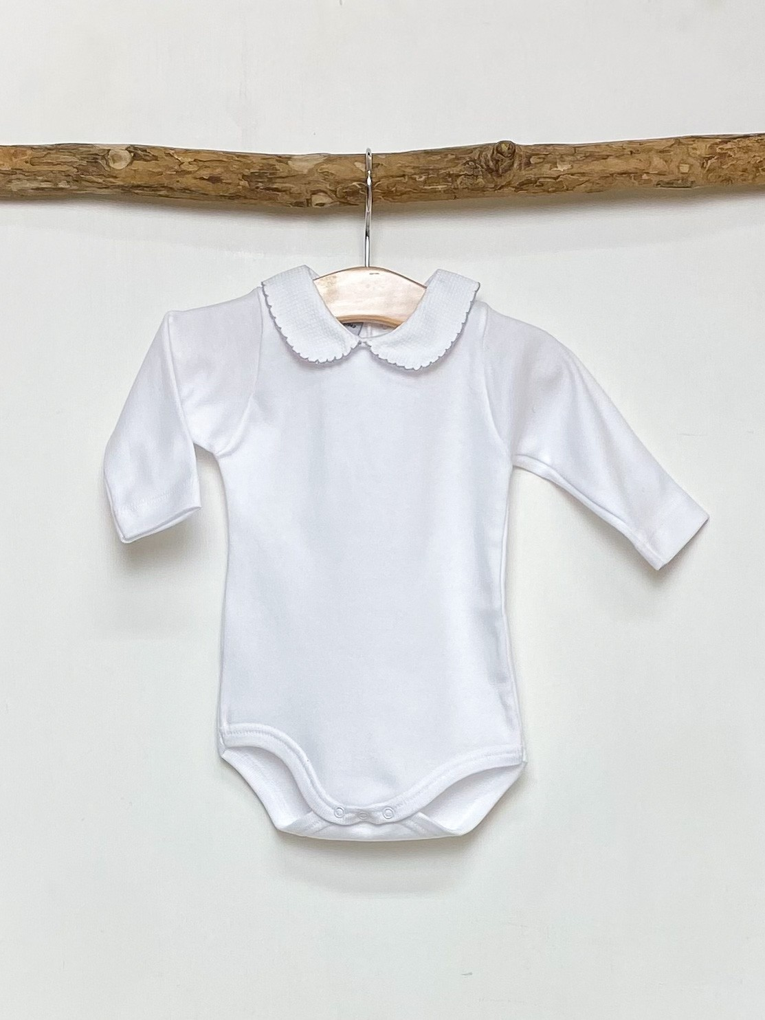 Grey Trim Peter Pan Bodysuit