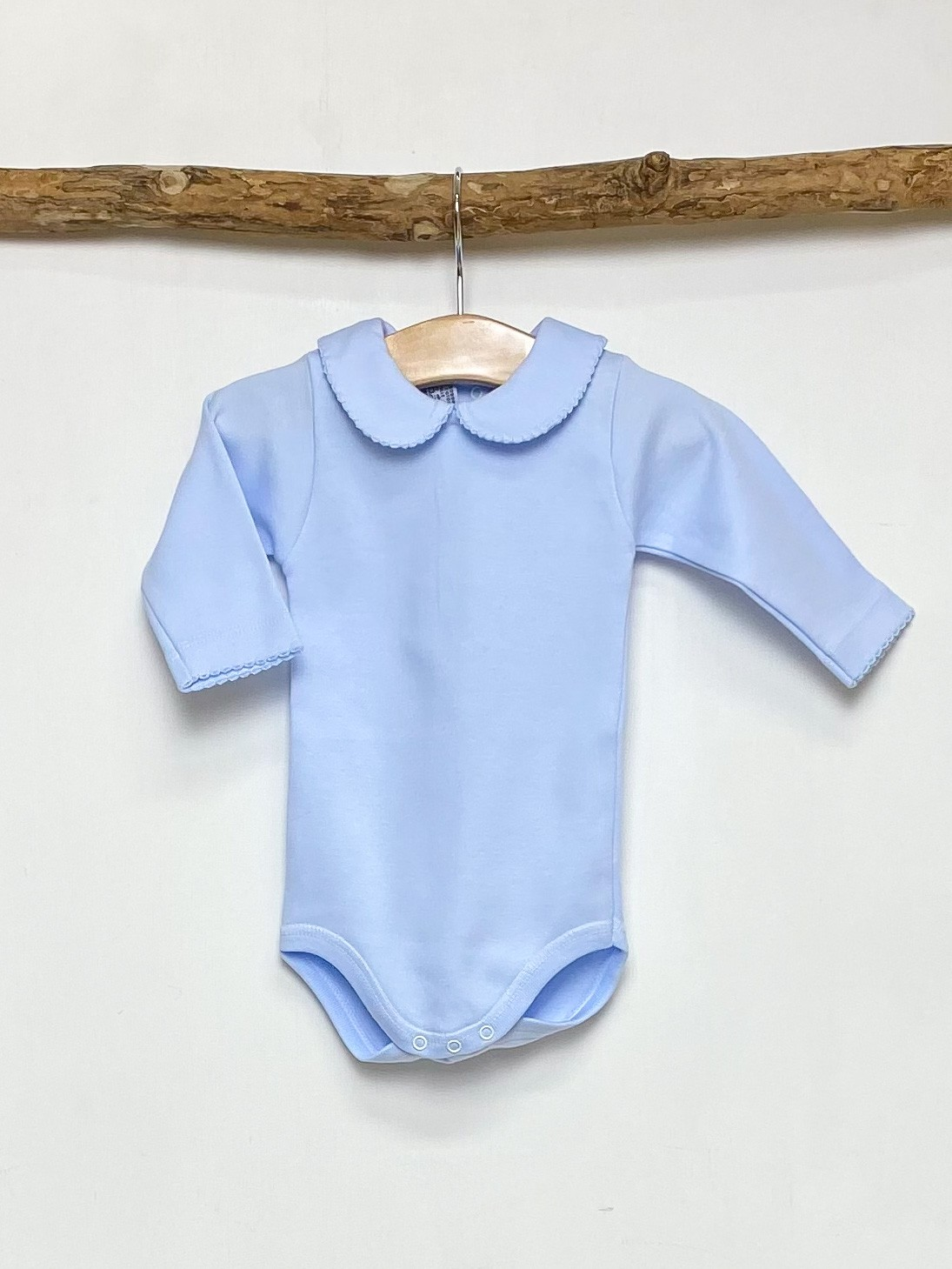 Blue Peter Pan Collar Bodysuit