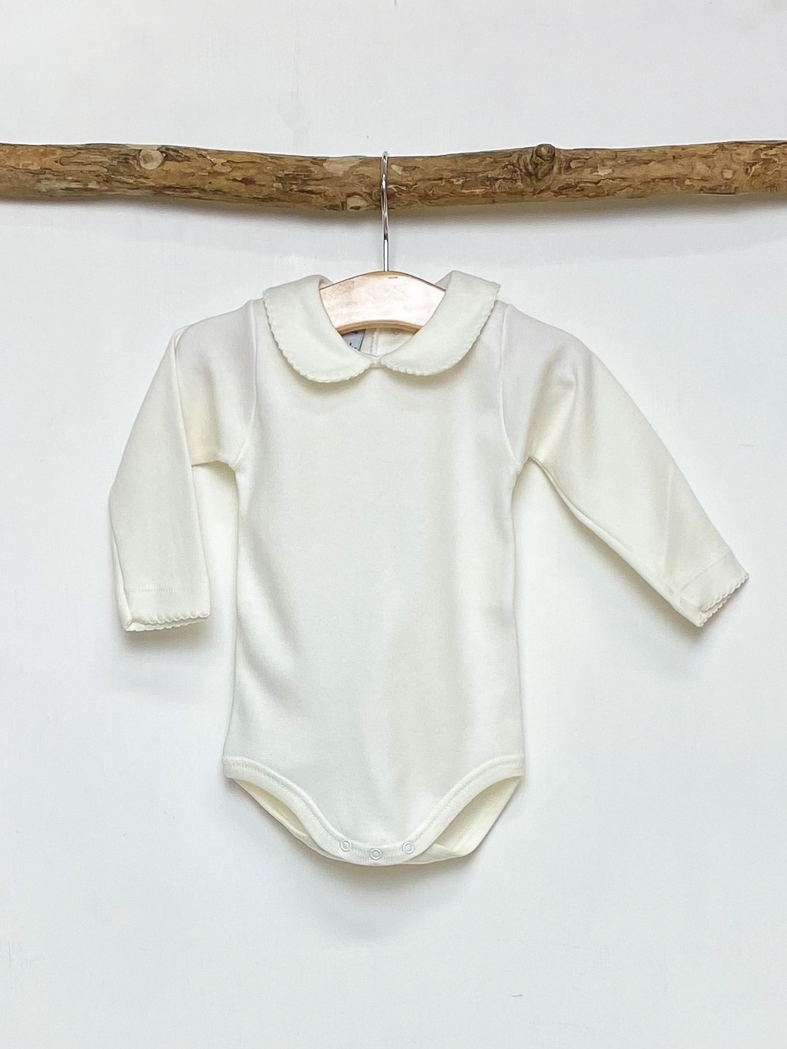 Ivory Peter Pan Collar Bodysuit
