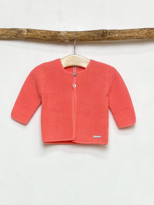 Knitted Coral Cardigan