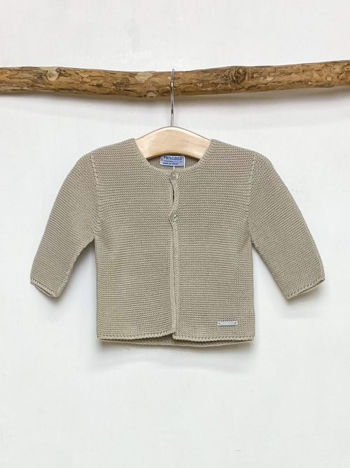 Knitted Camel Cardigan