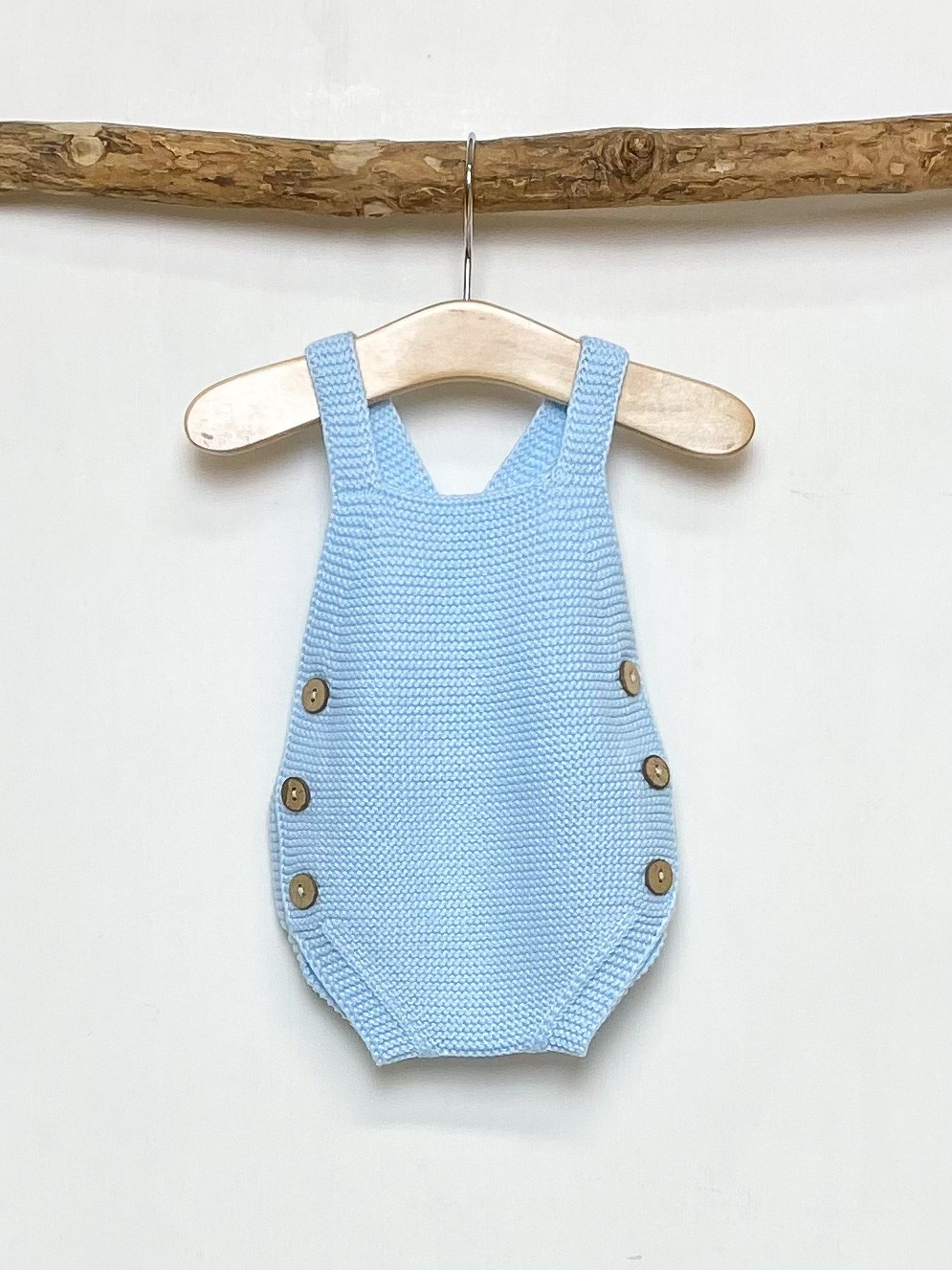 Knitted Blue Romper