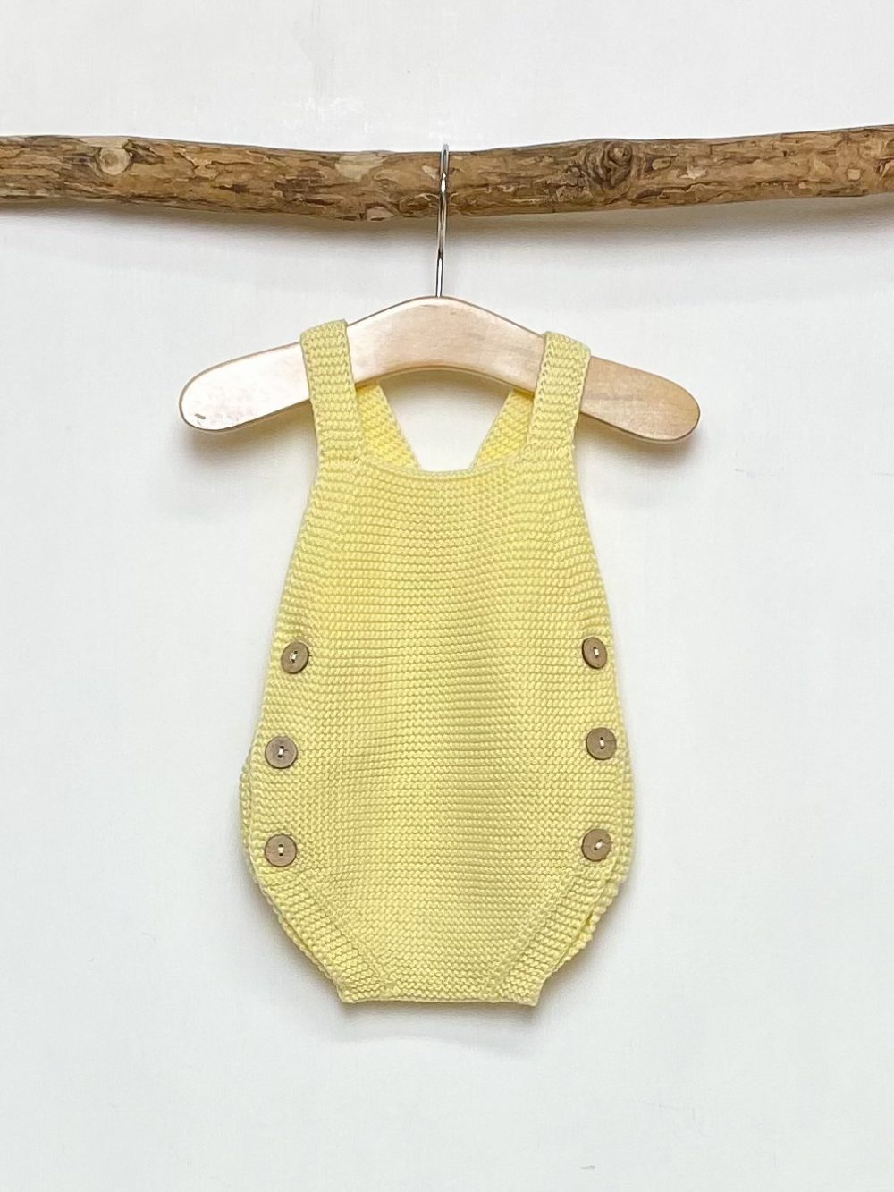Knitted Yellow Romper