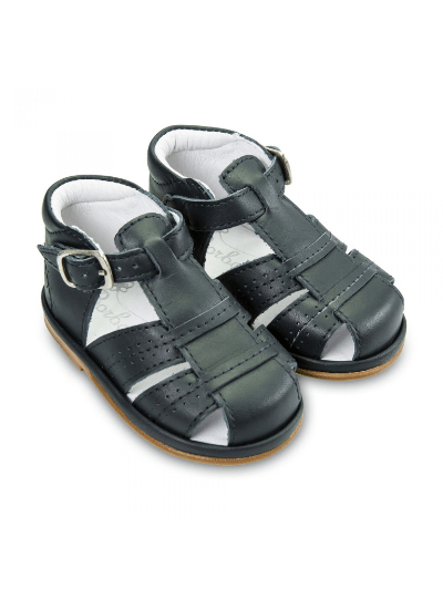 Navy Leather Augusto