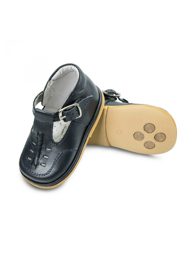 Navy Leather Louis