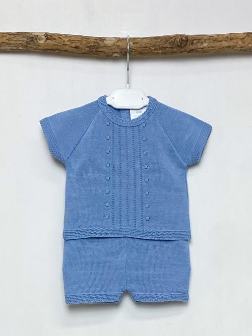 Knitted Cornflower Top & Shorts