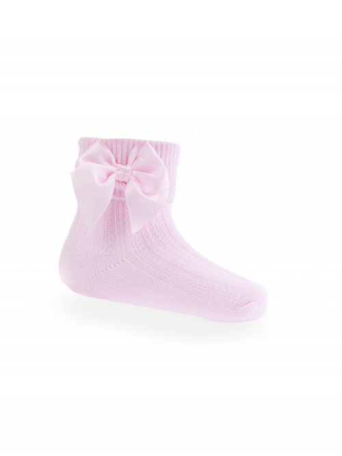 Pink Bow Ankle Socks