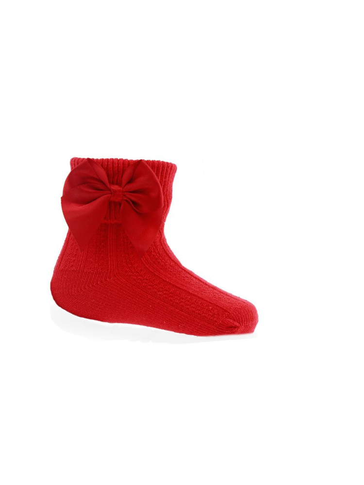 Red Bow Ankle Socks