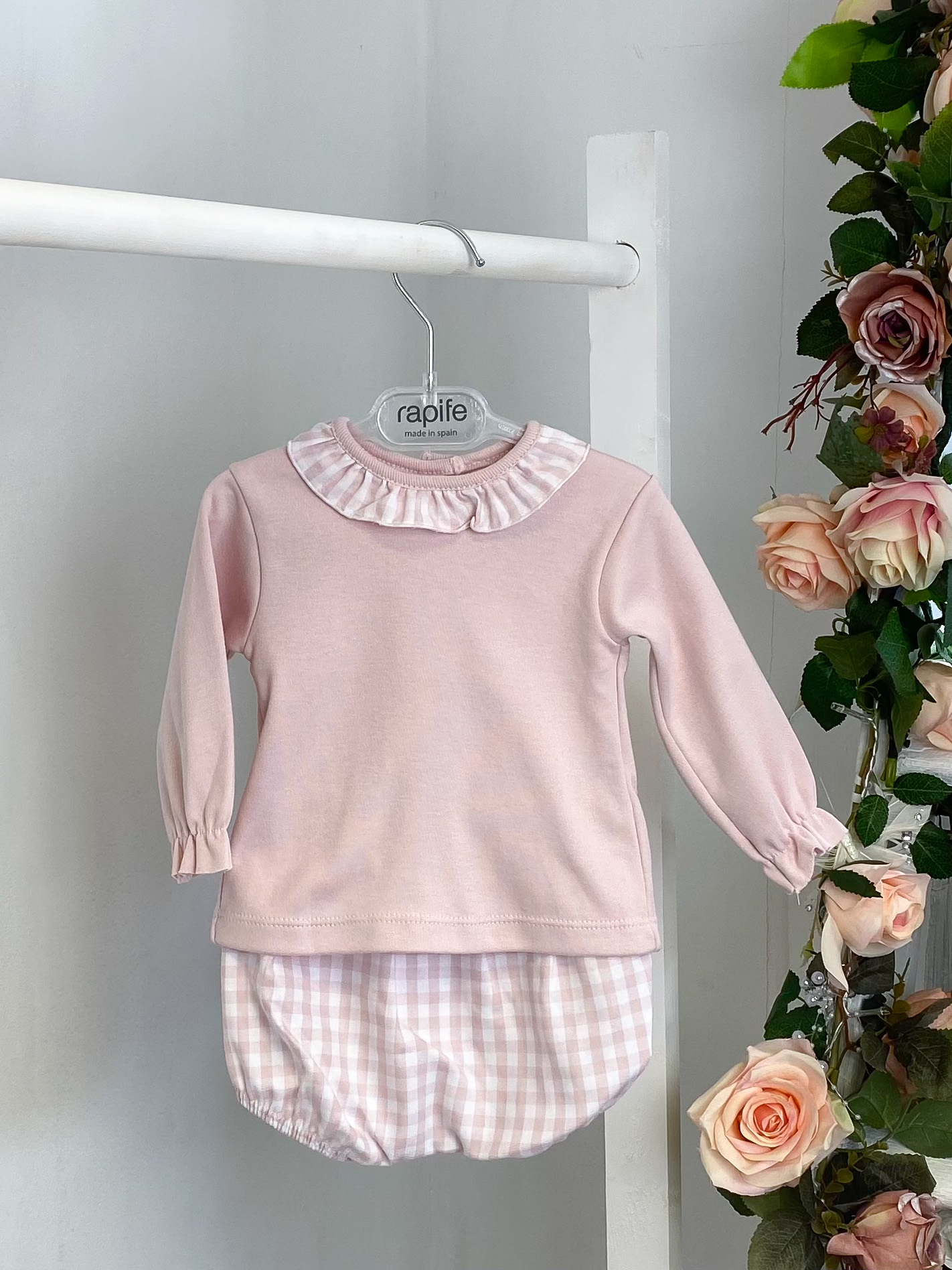 Pink Top & Gingham Bloomers